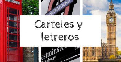 Carteles y letreros inglés