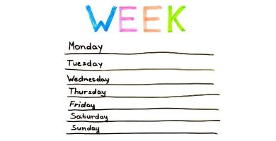los días de la semana en inglés
