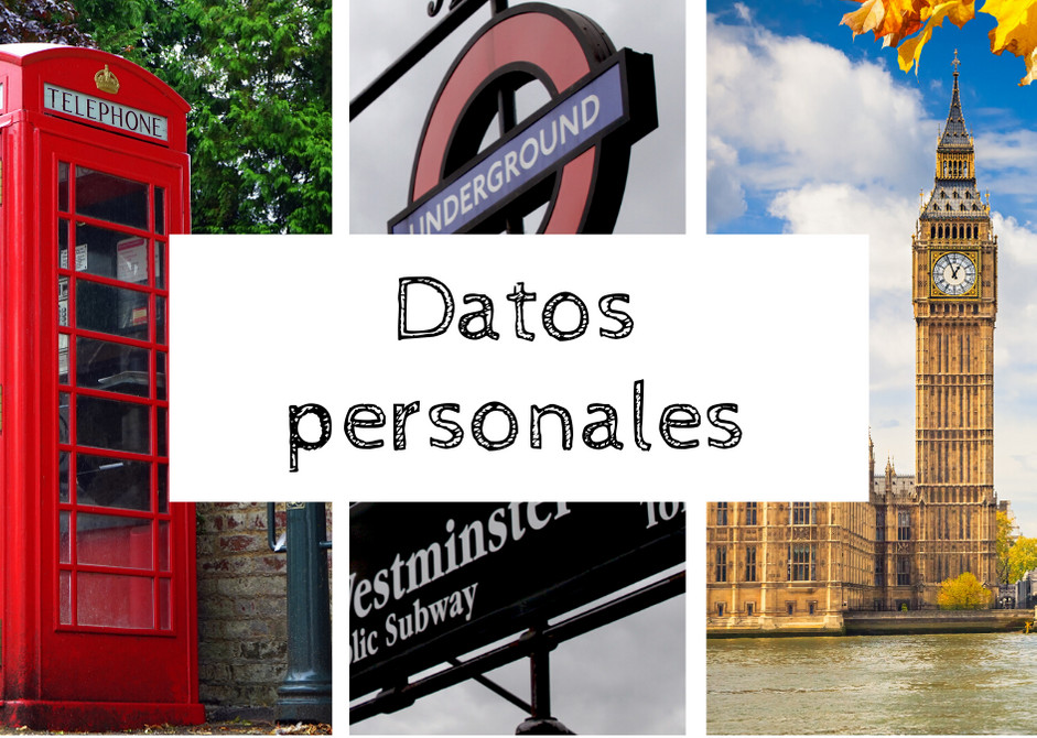 datos personales inglés